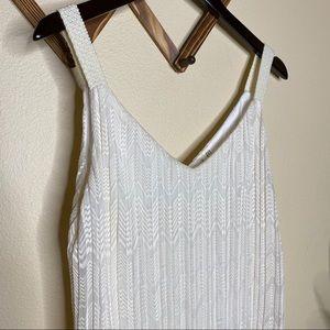 Anthropologie Dresses - Meadow Rue Ivory Pleated Sheath Dress